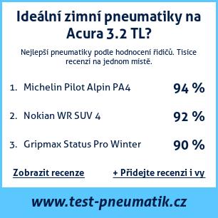 Test pneumatik na Acura 3.2 TL