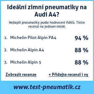 Test pneumatik na Audi A4