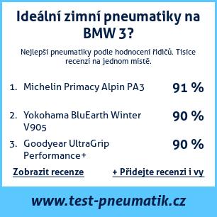 Test pneumatik na BMW řada 3