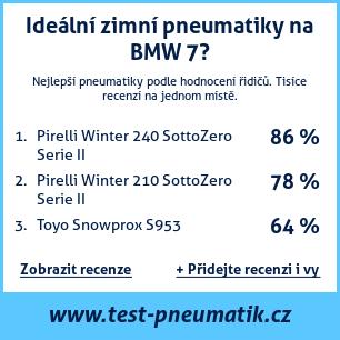 Test pneumatik na BMW řada 7