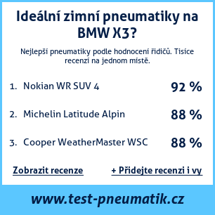 Test pneumatik na BMW X3