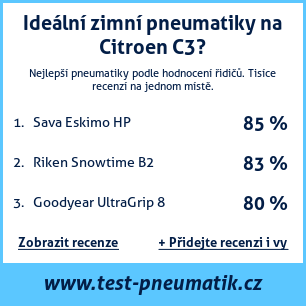 Test pneumatik na Citroen C3