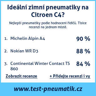 Test pneumatik na Citroen C4