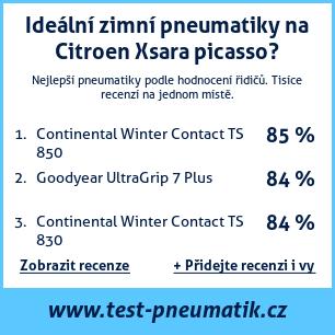 Test pneumatik na Citroen Xsara picasso