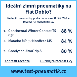 Test pneumatik na Fiat Doblo