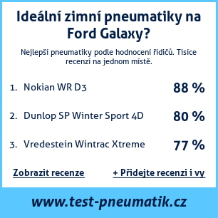 Test pneumatik na Ford Galaxy
