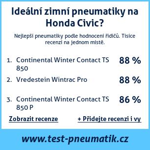 Test pneumatik na Honda Civic