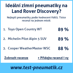 Test pneumatik na Land Rover Discovery