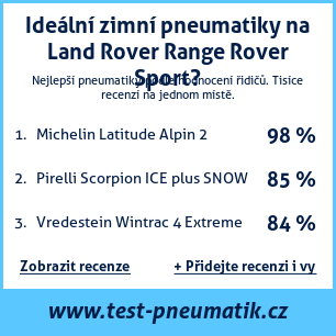 Test pneumatik na Land Rover Range Rover Sport