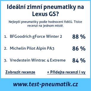 Test pneumatik na Lexus GS