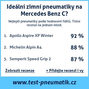 Test pneumatik na Mercedes Benz C