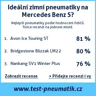 Test pneumatik na Mercedes Benz S