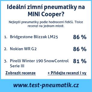 Test pneumatik na MINI Cooper