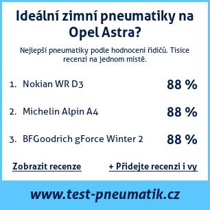 Test pneumatik na Opel Astra