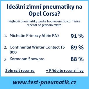 Test pneumatik na Opel Corsa