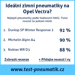 Test pneumatik na Opel Vectra