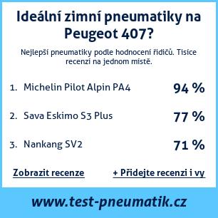 Test pneumatik na Peugeot 407