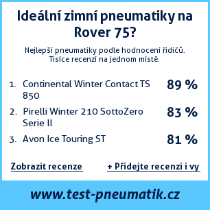 Test pneumatik na Rover 75
