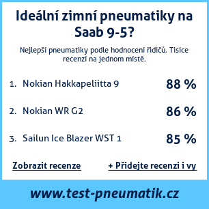 Test pneumatik na Saab 9-5