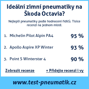 Test pneumatik na Škoda Octavia