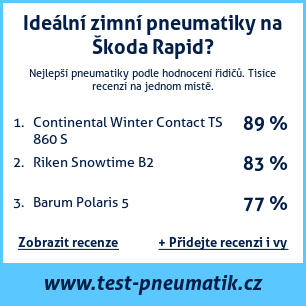 Test pneumatik na Škoda Rapid