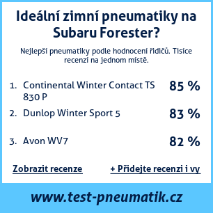 Test pneumatik na Subaru Forester