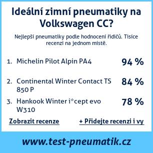 Test pneumatik na Volkswagen CC
