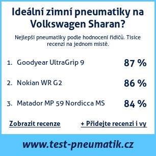 Test pneumatik na Volkswagen Sharan