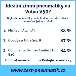 Test pneumatik na Volvo V50