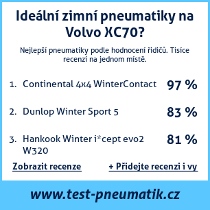 Test pneumatik na Volvo XC70