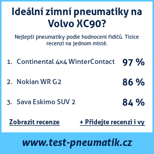 Test pneumatik na Volvo XC90